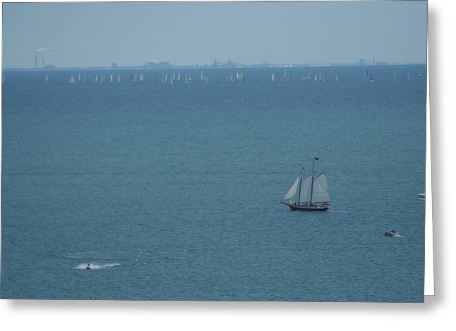 Sail On Michigan Greeting Card by Gregory Jeffries