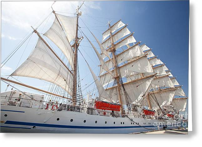 Greeting Card featuring the photograph Sail Training Ship Nippon Maru by Aiolos Greek Collections