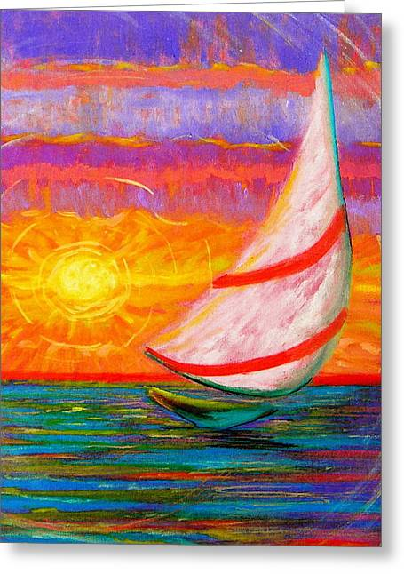 Sailaway Greeting Card by Jeanette Jarmon