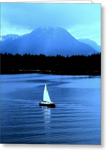 Sailboat 1 Greeting Card by Randall Weidner