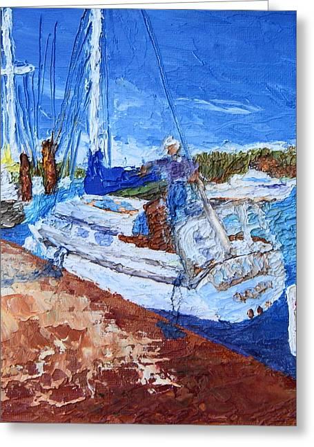 Sailboat At Rest Greeting Card