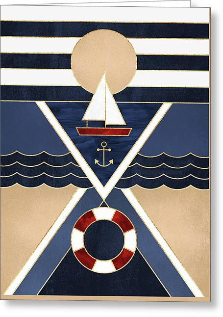 Sailboat Greeting Card by Elisabeth Fredriksson