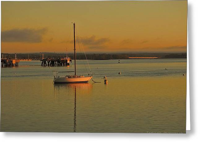 Sailboat Glow Greeting Card