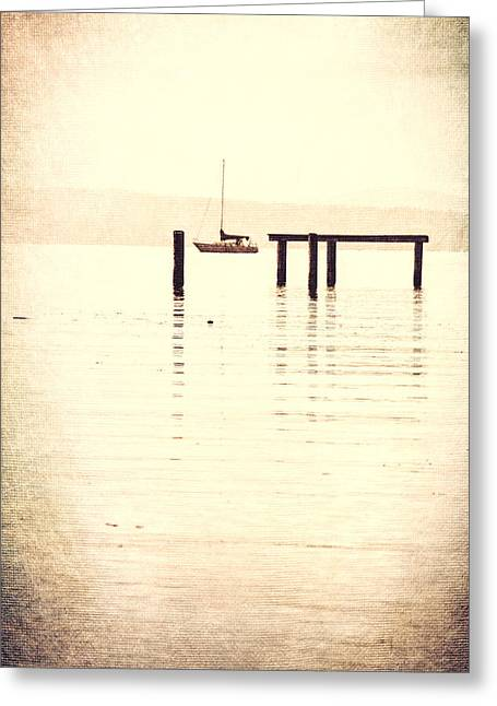Sailboat Grunge Greeting Card by Dan Sproul