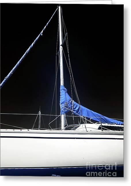 Sailboat Hull Greeting Card by John Rizzuto