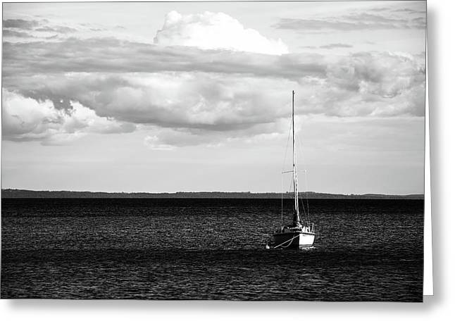 Sailboat In The Bay Greeting Card by Onyonet  Photo Studios
