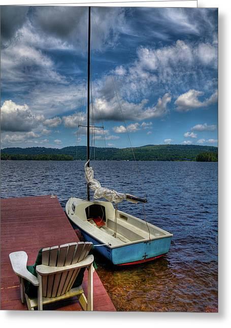 Sailboat On First Lake Greeting Card