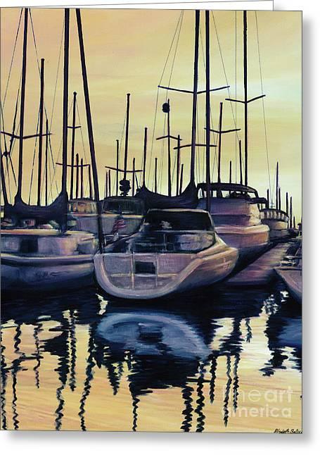 Sailboat Reflections Greeting Card by Elisabeth Sullivan