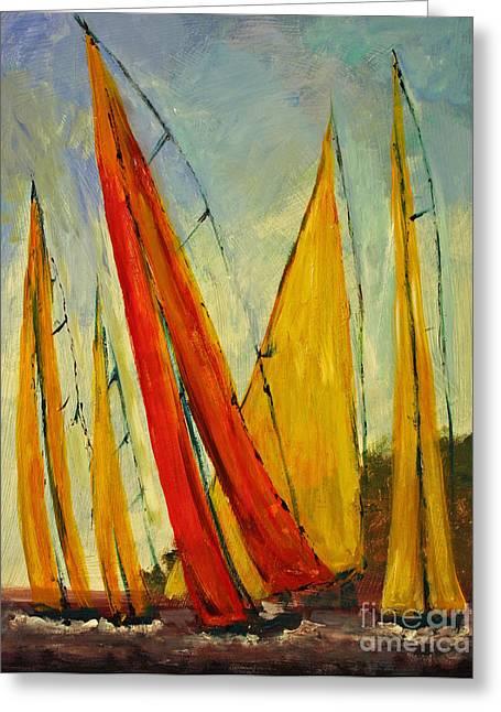 Sailboat Studies 2 Greeting Card