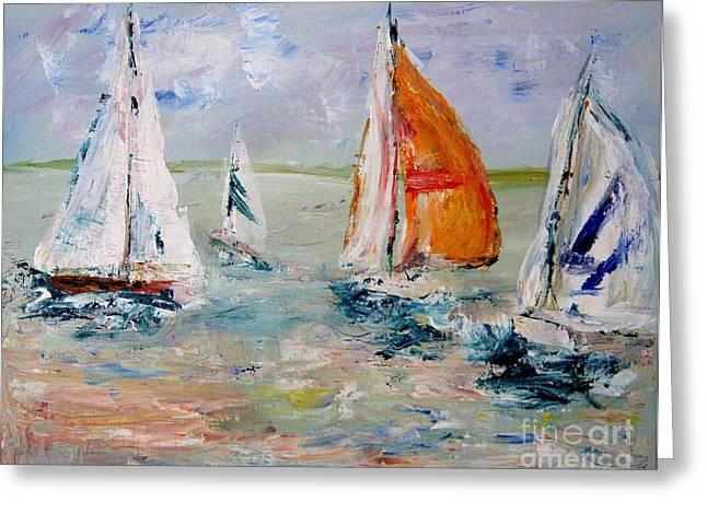 Sailboat Studies 3 Greeting Card