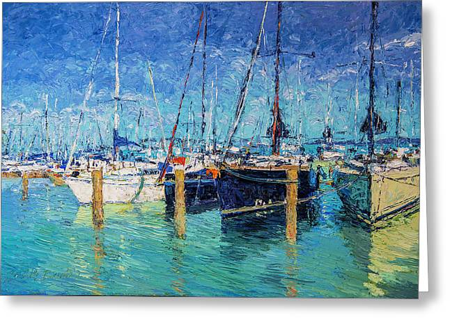 Sailboats At Balatonfured Greeting Card