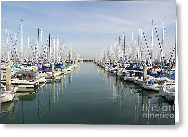 Sailboats At South Beach Harbor San Francisco Dsc5767 Greeting Card