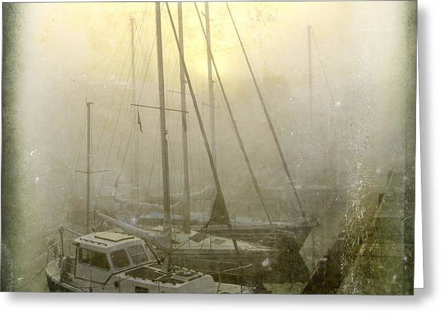 Sailboats In Honfleur. Normandy. France Greeting Card by Bernard Jaubert