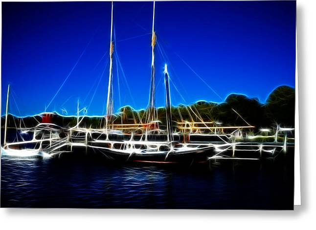 Sailboats Mystic Seaport Greeting Card by Lawrence Christopher