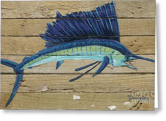 Sailfish Greeting Card by Danielle Perry