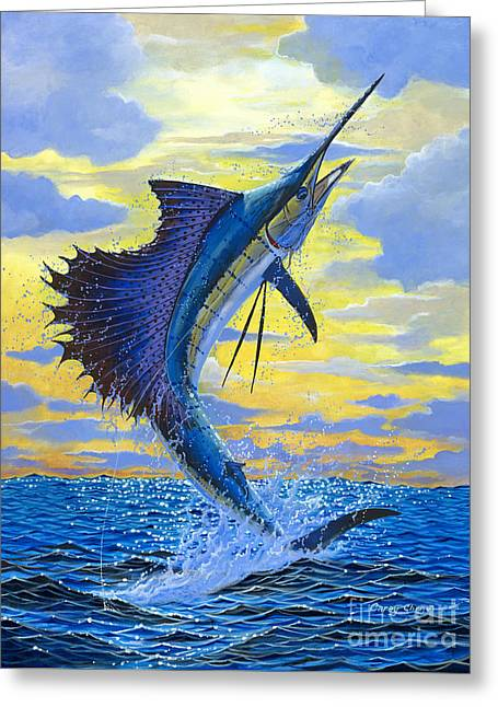 Sailfish Point Greeting Card by Carey Chen