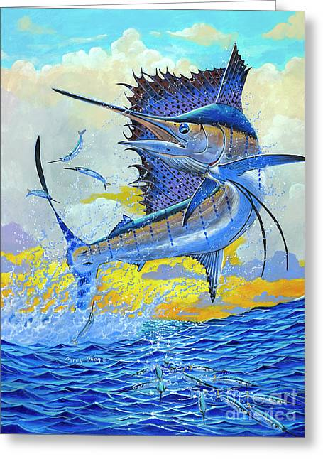 Sailfish Sunset Greeting Card