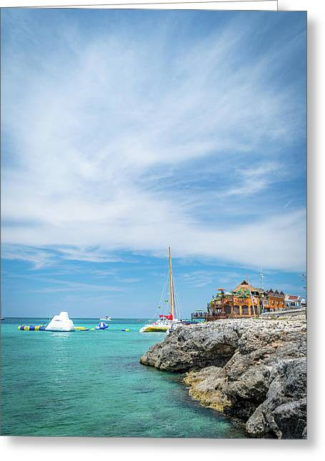 Coastline Sailing In Montego Bay Greeting Card