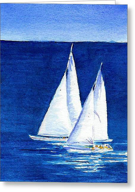Sailing Greeting Card by Anne Marie Brown