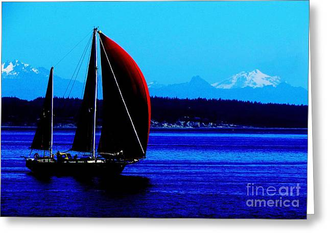 Sailing At Port Townsend Washington State Greeting Card