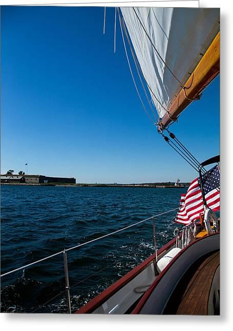 Sailing Away Greeting Card by Karol Livote