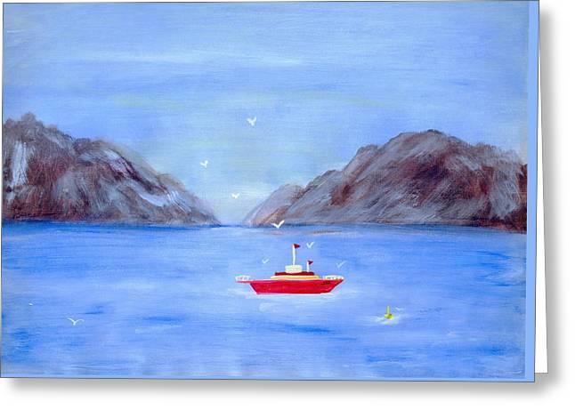 Sailing Away Greeting Card