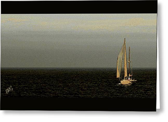 Sailing Greeting Card by Ben and Raisa Gertsberg