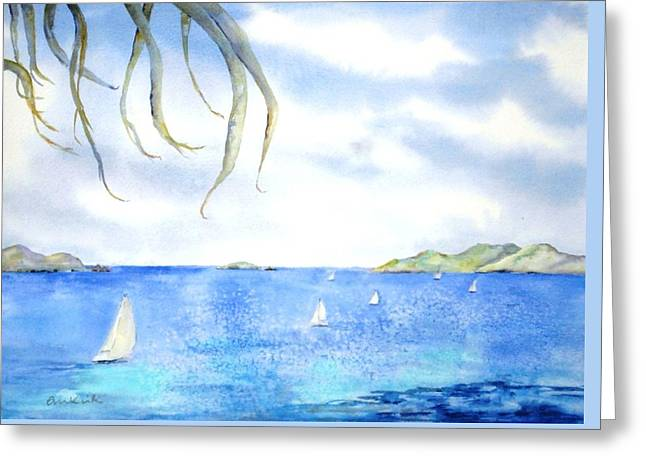 Sailing Between The Islandsd Greeting Card