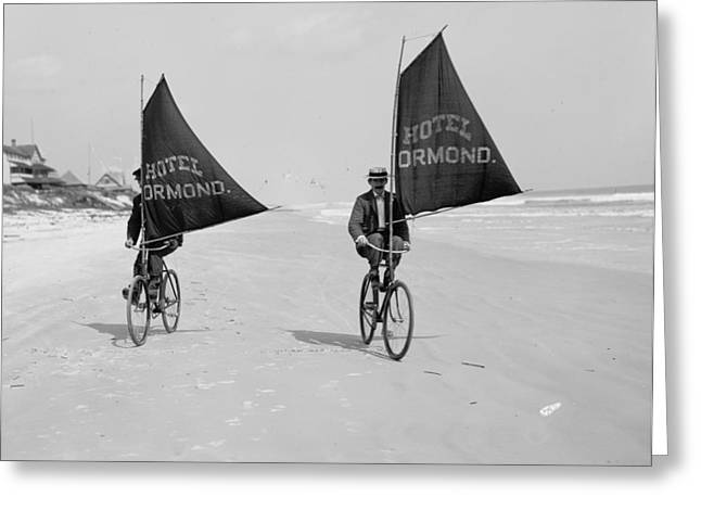 Sailing Bicycles 1903 Greeting Card by Padre Art