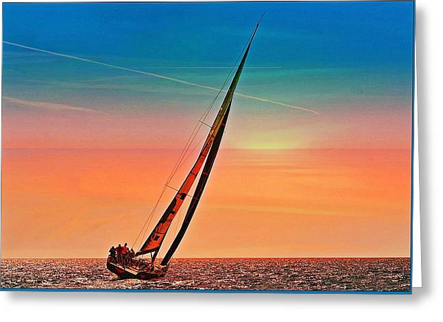 Sailing Boat Nautical 3 Greeting Card
