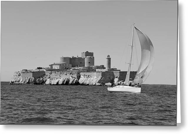 Sailing Boat Nautical 4 Greeting Card by Jean Francois Gil