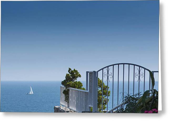 Sailing By The Beautiful Sea Greeting Card by Don Spenner