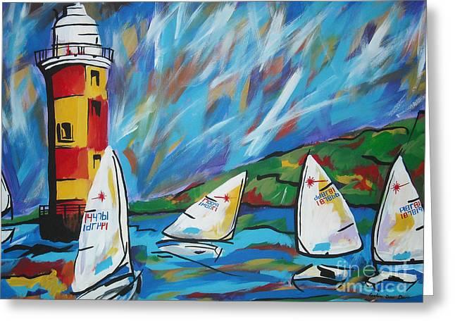 Sailing Greeting Card by Caroline Davis