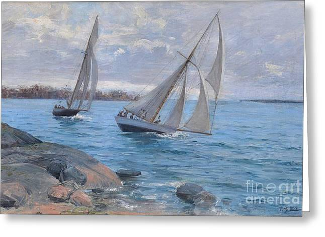 Sailing Greeting Card by Celestial Images