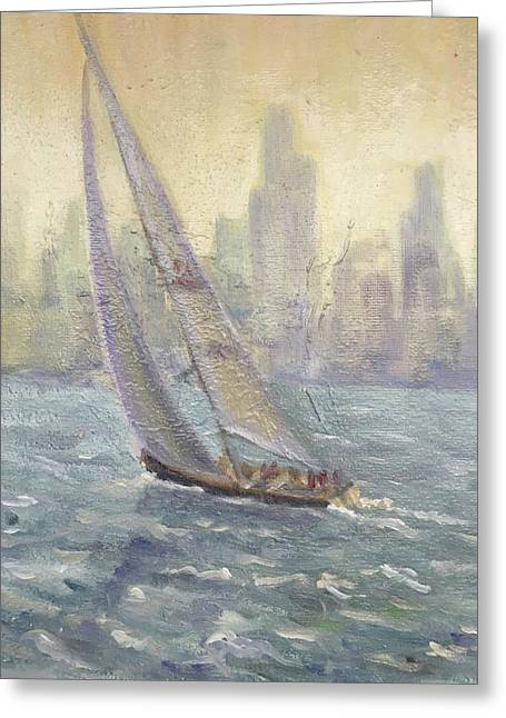 Sailing Chicago Greeting Card
