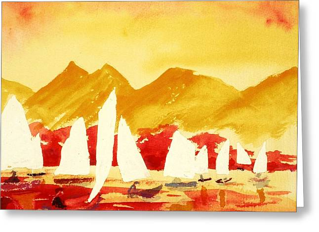 Sailing Class Greeting Card by Buster Dight