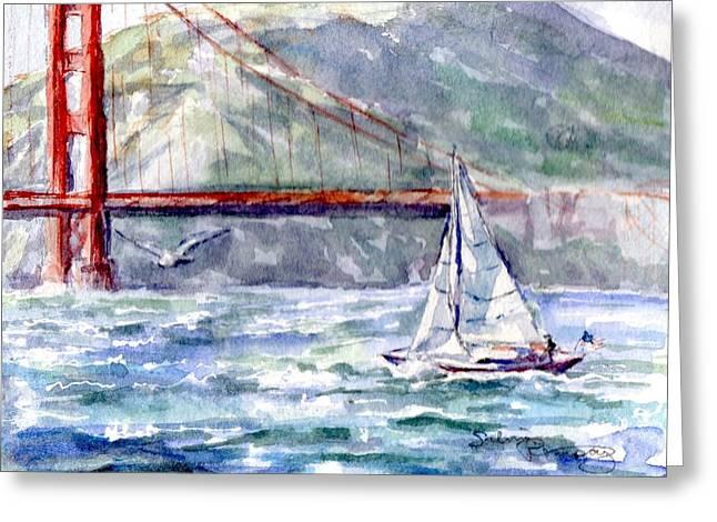 Sailing Crissy Field Greeting Card