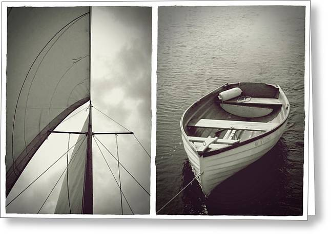 Sailing Diptych Greeting Card
