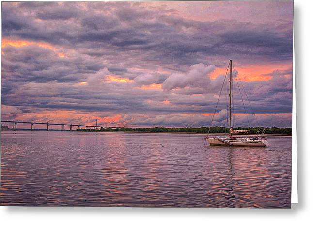 Sailing Greeting Card by Donnie Smith