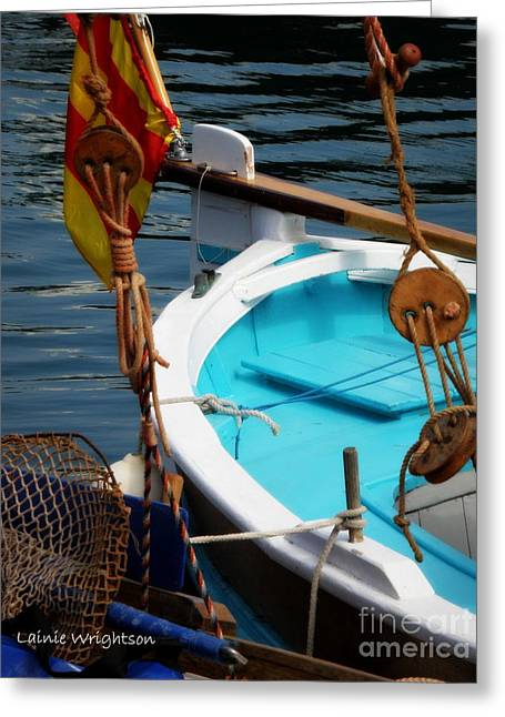 Sailing Dories 1 Greeting Card by Lainie Wrightson