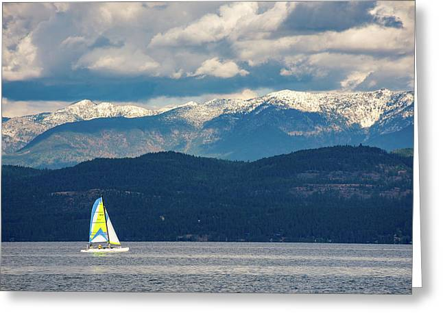 Sailing Flathead Lake Greeting Card