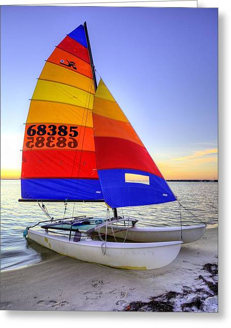 Sailing Florida Greeting Card by JC Findley