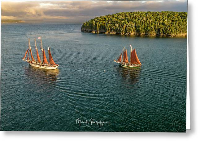 Sailing Frenchman Bay Greeting Card