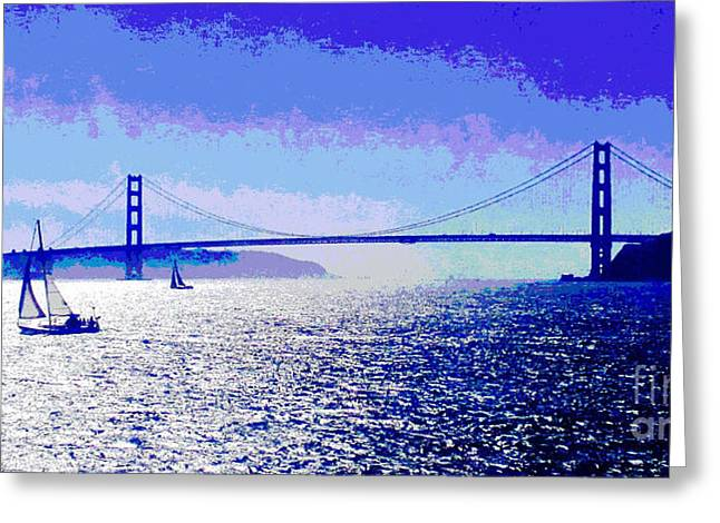 Sailing Golden Gate Bridge Greeting Card