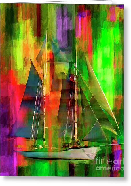 Sailing In The Abstract 2016 Greeting Card