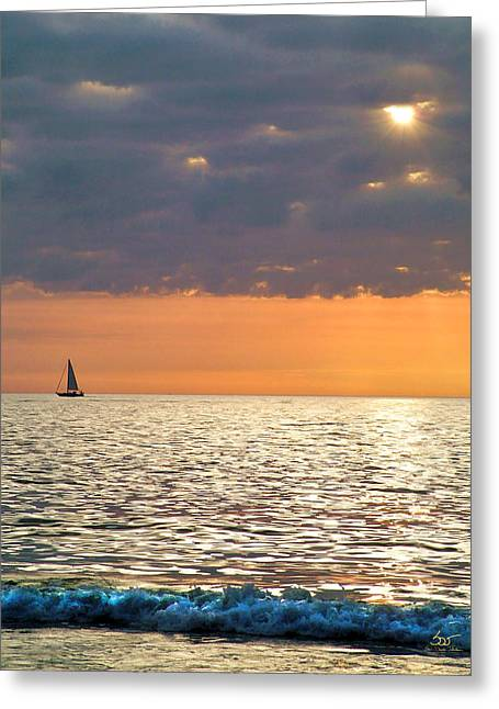 Sailing In The Sun Greeting Card