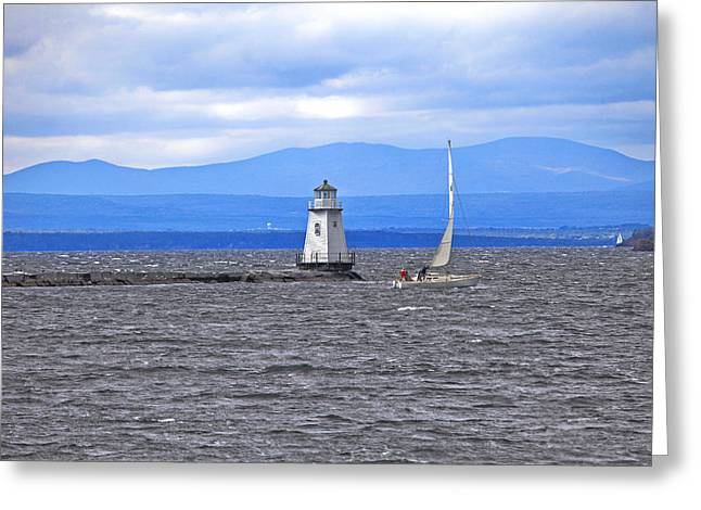 Flyfish Greeting Cards - Sailing In To Open Waters Greeting Card by James Steele