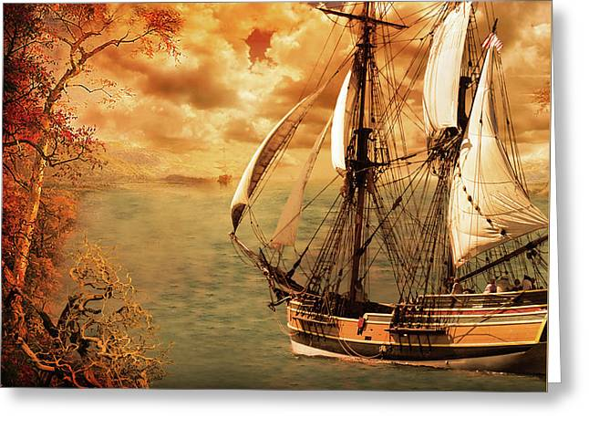 Sailing Into Fall Greeting Card