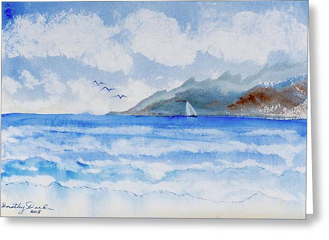 Sailing Into Moorea Greeting Card