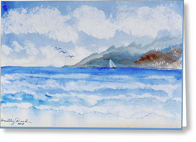 Sailing Into Moorea Greeting Card